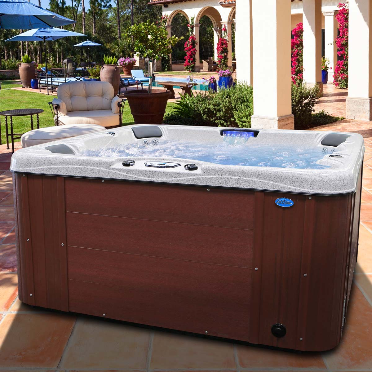 Cal spas hot tubs and bbq islands for sale at round calspas sciox Image collections
